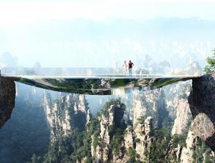 Podniebny spacer - szklane kładki w Chinach