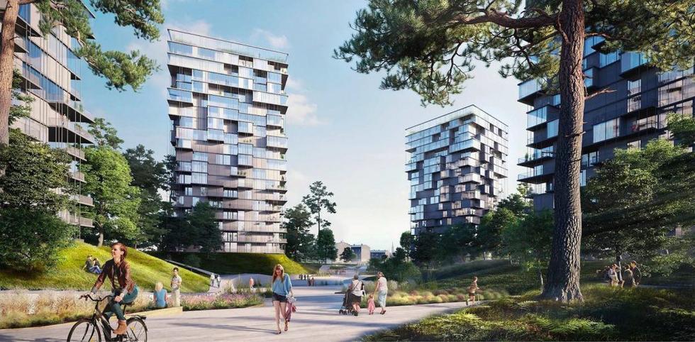 Zespół zabudowy mieszkaniowej przy Katowickiej Strefie Kultury z pozwoleniem na budowę.